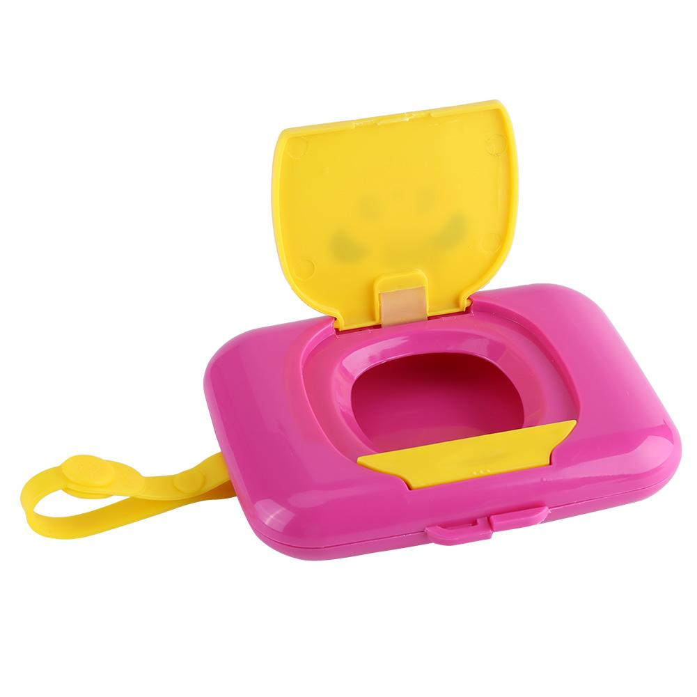 White+Rose 2 PCS Wipes Dispenser Case for Outside and Travel Portable Sealed Wet Tissue Box Suitable for Baby