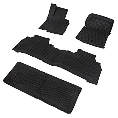 Star Diamond Liners All Weather Rubber Floor Mats Custom Fit for 13-16 Land Rover Range Rover - Black