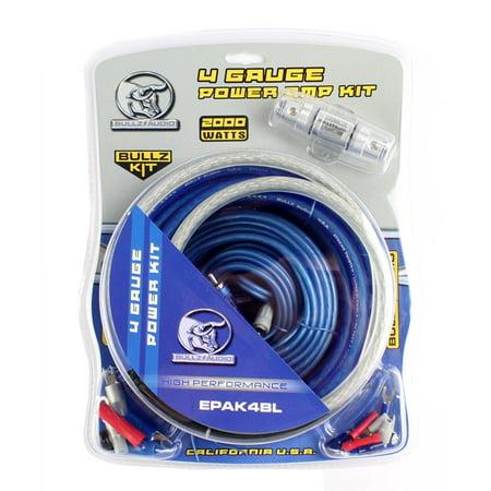 Bullz Audio 4 Gauge Car Amplifier Amp Installation Power Wiring Kit