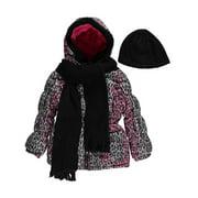 "Pink Platinum Little Girls' Toddler ""Leopard Splash"" Insulated Parka with Accessories (Sizes 2T (Toddler)"