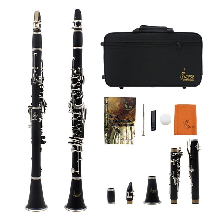 Black ABS Real Clarinet Wood Finish w/case.Approved+Warranty Instrument