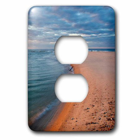 3dRose Head of the Meadow Beach, Cape Cod National Seashore, Massachusetts. - 2 Plug Outlet Cover (Cape Cod Outlets)