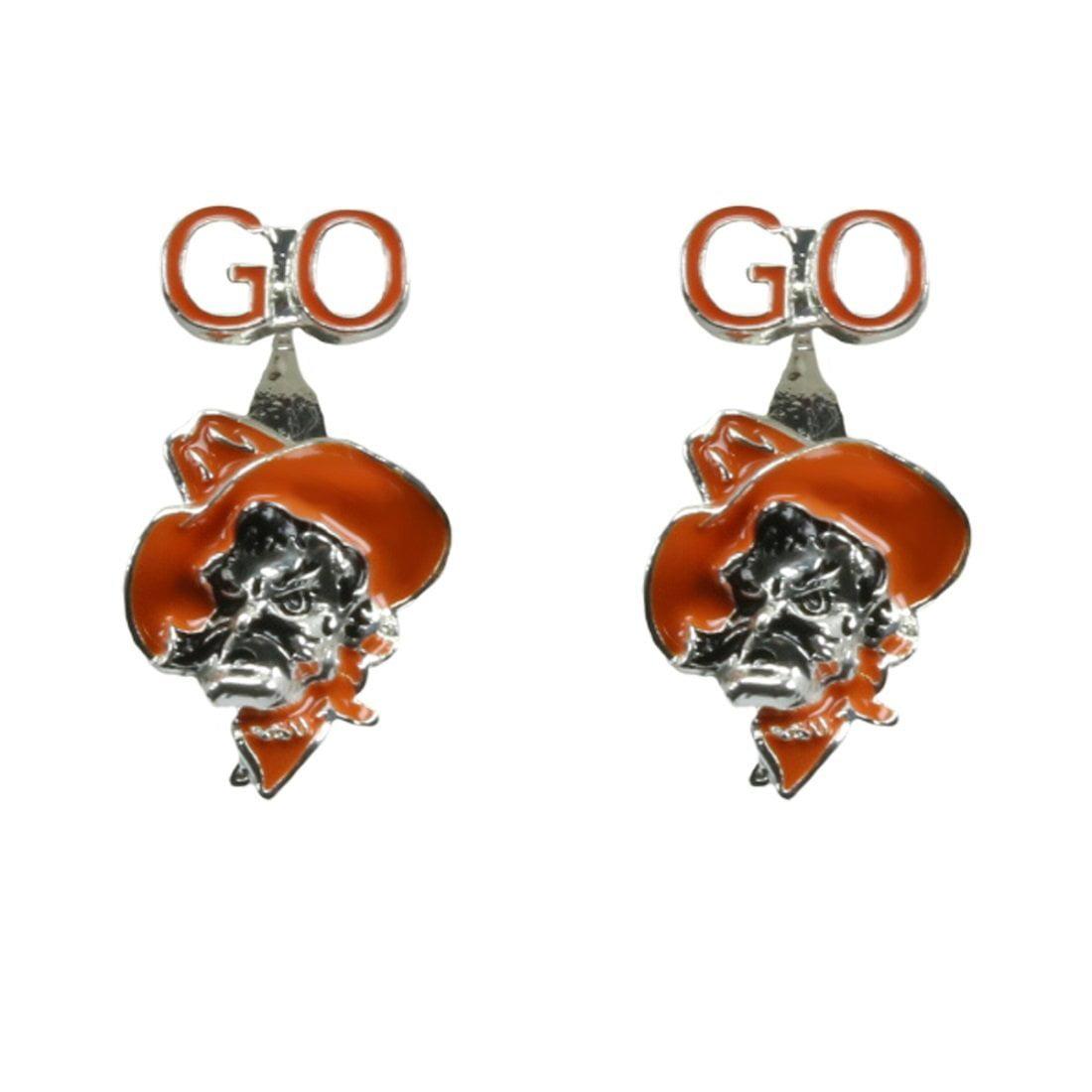 Oklahoma State Peek-a-Boo Earrings