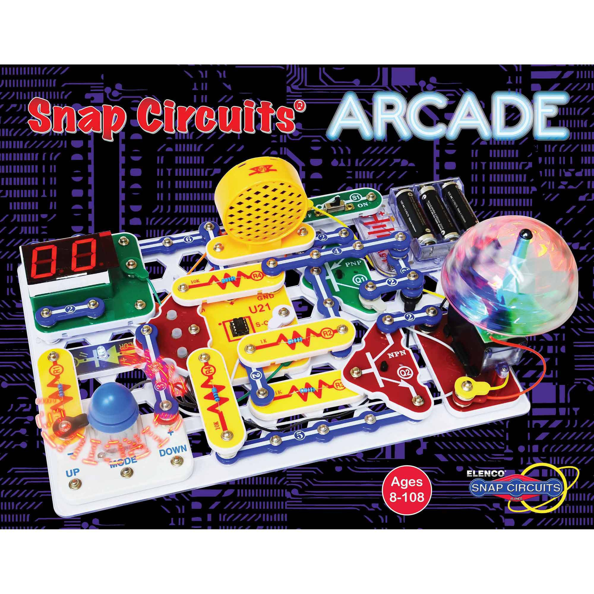 Elenco Electronics Snap Circuits Ask Answer Wiring Diagram Scg125 Green Alternative Energy Kit Learning Arcade Discovery Walmart Com Electronic