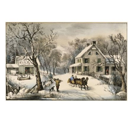 American Homestead Winter Print Wall Art By Currier & Ives Currier & Ives Scene
