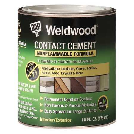 Contact Cement - DAP 25332 1 Quart Non Flammable Contact Cement