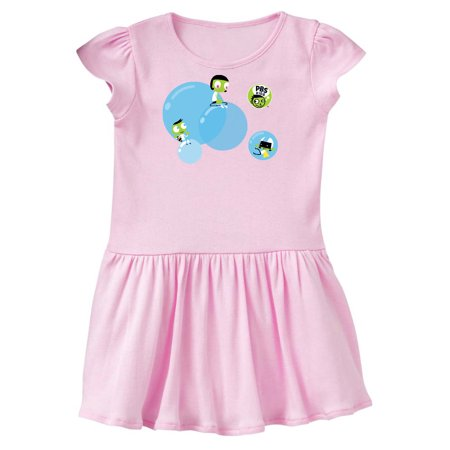 PBS Kids Dot, Del, and Dee Riding Bubbles Toddler Dress