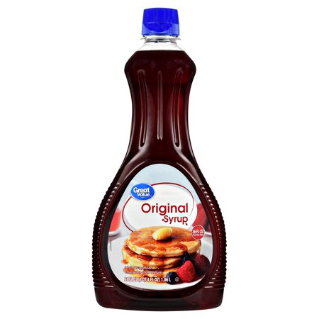 (3 Pack) Great Value Original Syrup, 36 fl oz (Maple Syrup 32 Oz)