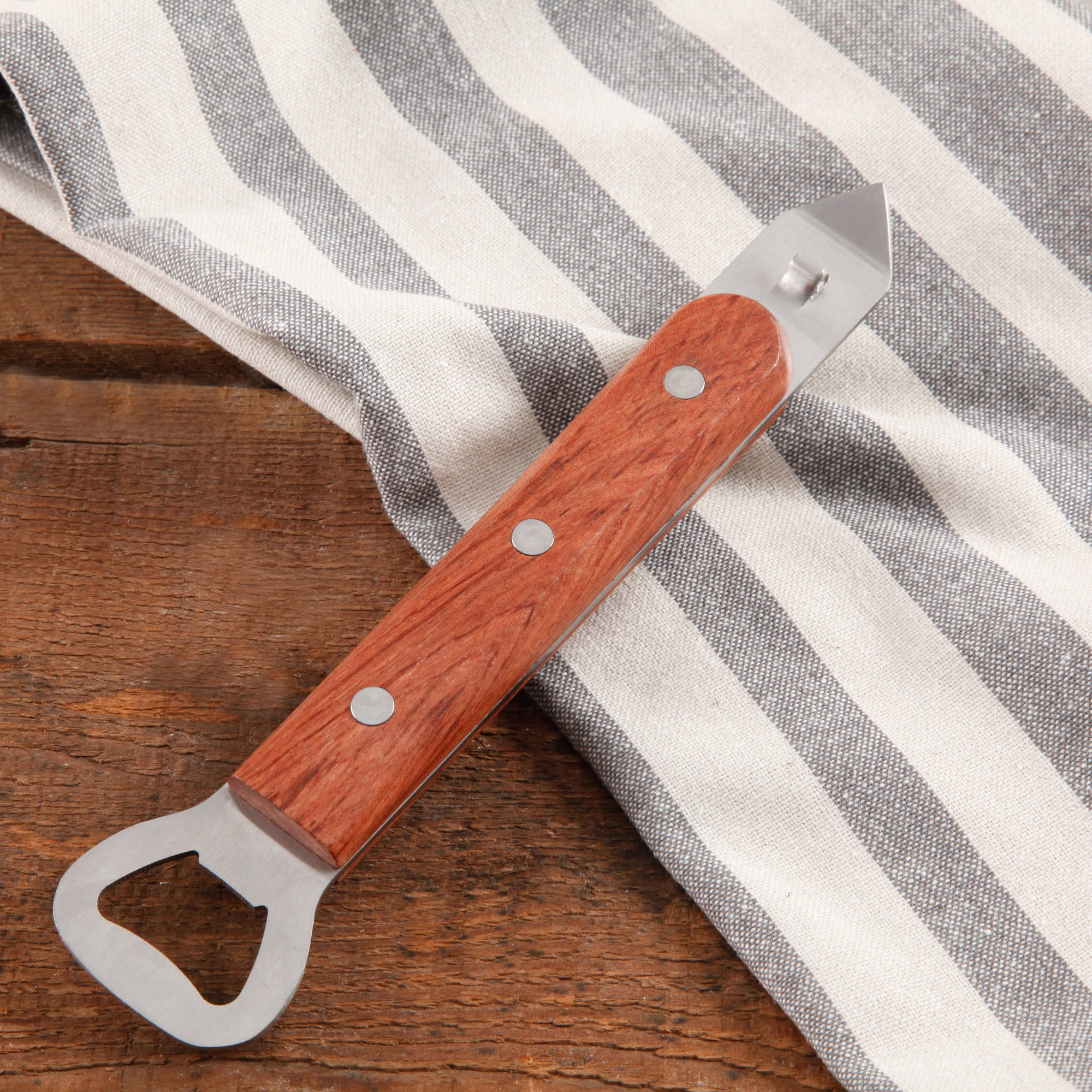 The Pioneer Woman Cowboy Rustic Rosewood Handle Bottle Opener