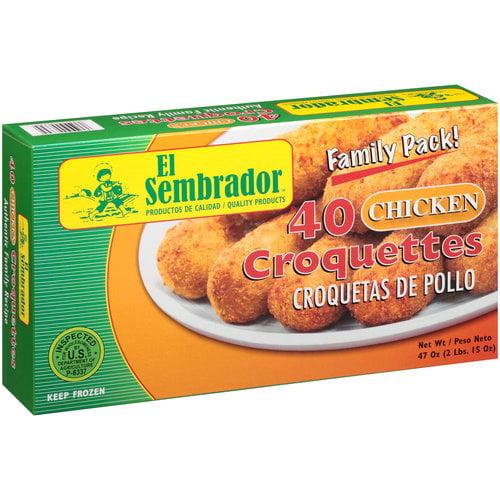 El Sembrador Chicken Croquettes, 40 count, 47 oz