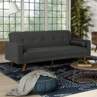 DHP Sunset Hills Mid-Century Sofa Bed, Gray