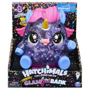 Hatchimals CollEGGtibles, Unikeet Glamfetti 5-inch Tall Bank with 8 Exclusive Characters (Walmart Exclusive)