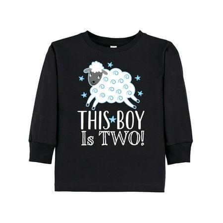2nd Birthday Boys Cute Lamb 2 Year Old Toddler Long Sleeve T-Shirt - Cute 2 Year Old Boy