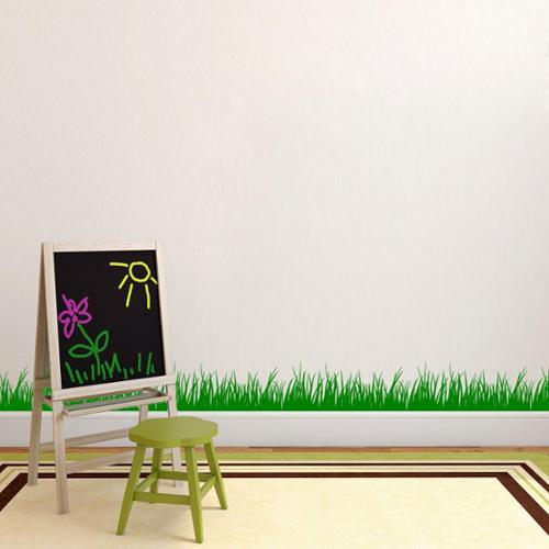 Grass Wall Decal (8x22) WHITE