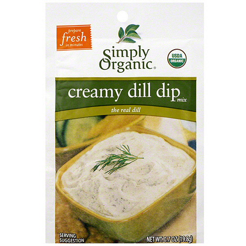 Simply Organic Creamy Dill Dip Mix, .7 oz (Pack of 12)