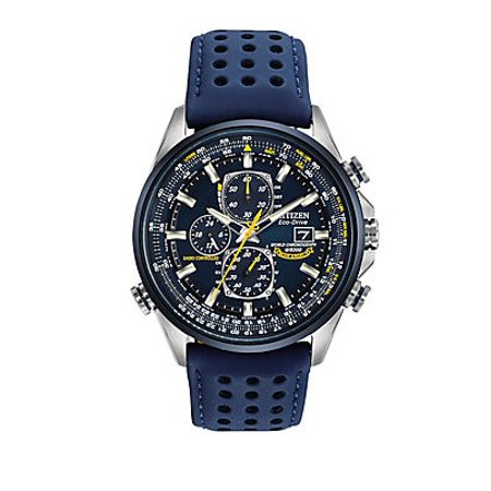 Eco-Drive Blue Angels Chronograph Atomic Men's Watch, AT8020-03L Eco Drive Blue Dial Watch