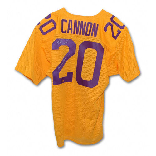NCAA - Billy Cannon LSU Tigers Autographed Throwback Jersey with Heisman 1959 Inscription