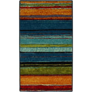 "Mohawk Home Rainbow Stripe Accent Rug, 1' 8"" x 2' 10"""