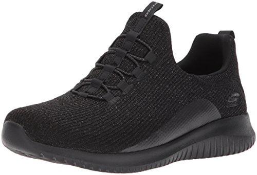 Skechers Sport Women's Ultra Flex Sneaker,Black/Black,5 M US
