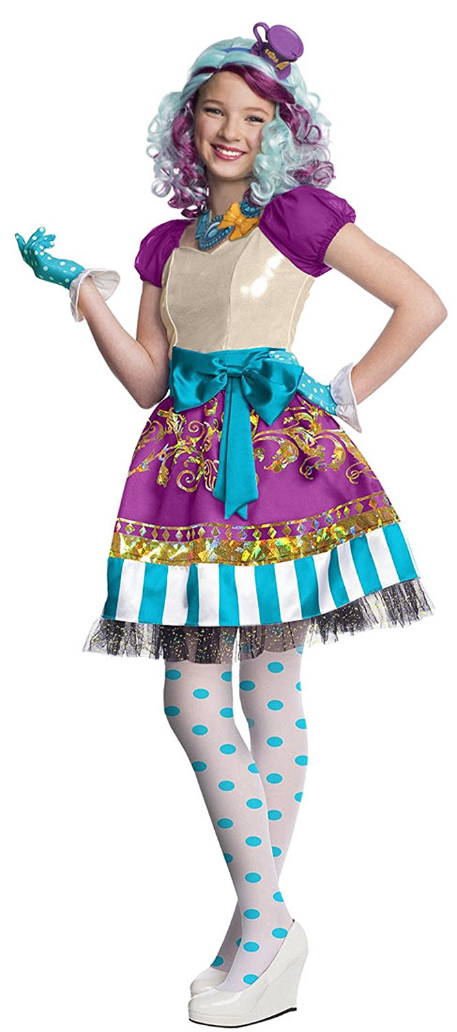 884911 (12-14) Madeline Hatter Costume, Madeline Hatter Ever After High By Rubie's by