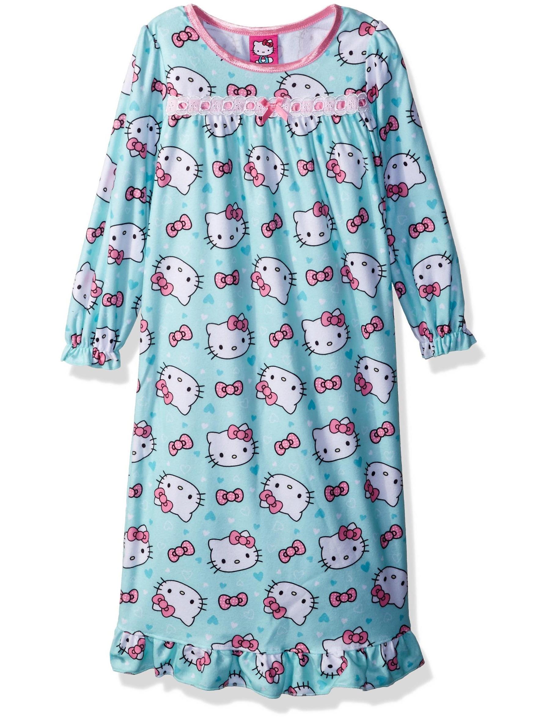 Hello Kitty Girls' Polka Dots and Daisies Nightgown