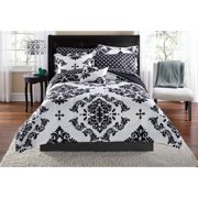 Mainstays Classic Noir Black Bed in a Bag Coordinating Bedding, Twin/Twin XL