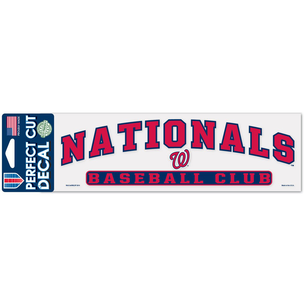 "Washington Nationals WinCraft 3"" x 10"" Arch Perfect Cut Decal - No Size"