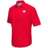 Mens Wisconsin Badgers Van Buren Camp Shirt