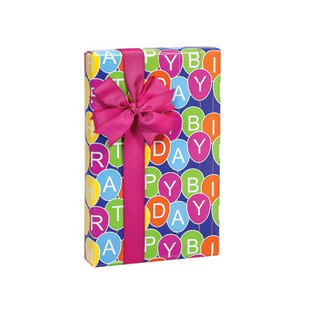 Pack Of 1 24 X 417 Birthday Balloons Gift Wrap Counter Roll For