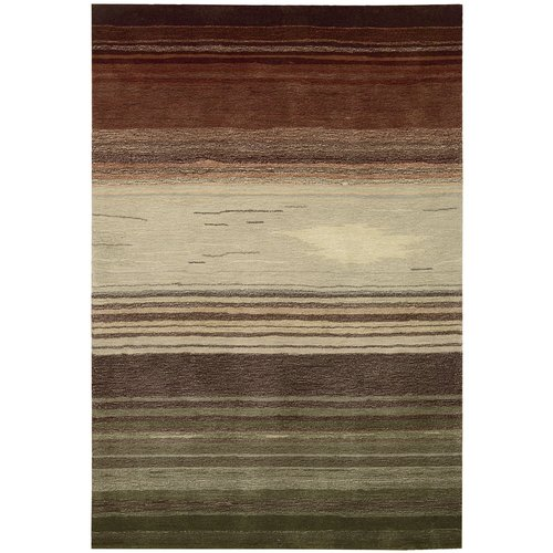 Nourison Radiant Stripes Transitional and Contemporary Rug