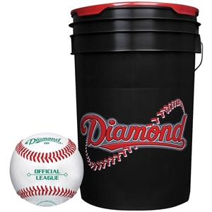 Diamond Black Bucket with BB-OL Baseballs (24 Balls) by DIAMOND