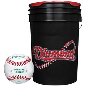 Diamond Black Bucket with BB-OL Baseballs (24 Balls)