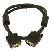 3ft Premium VGA EXTENSION M/F Triple-Shield Cable Nickel Plated
