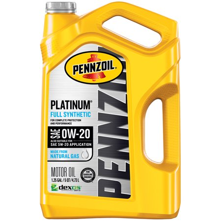 0w 20 Vs 5w 20 >> Pennzoil Platinum 0w 20 Full Synthetic Motor Oil 5 Quart