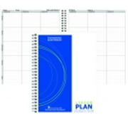 Hammond And Stephens 8.5 x 11 in. Objective Lesson Plan Book, Polyice Cover, 6 Subjects, 42 Week, White And Black