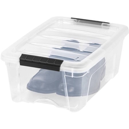 IRIS USA 12 Quart Buckle Up Storage Bin, 1 Pack ()
