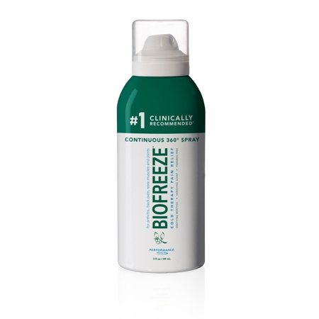 Biofreeze Classic Pain Relief 360 Continous Spray, 3 Ounce, Colorless Formula, Pain