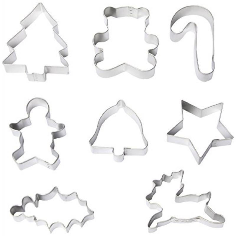 R & M Christmas 8 Piece Cookie Cutter Set