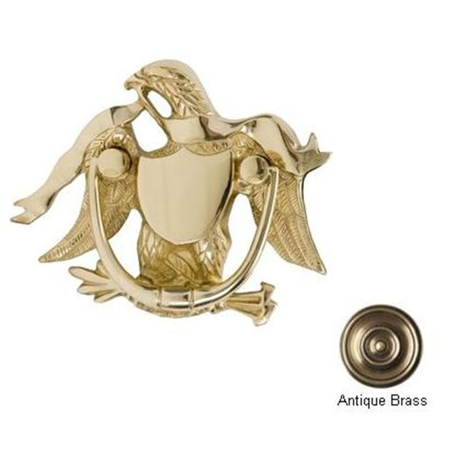 BRASS Accents A04-K2000-609 Eagle Door Knocker 5-. 87 inch Antique Brass