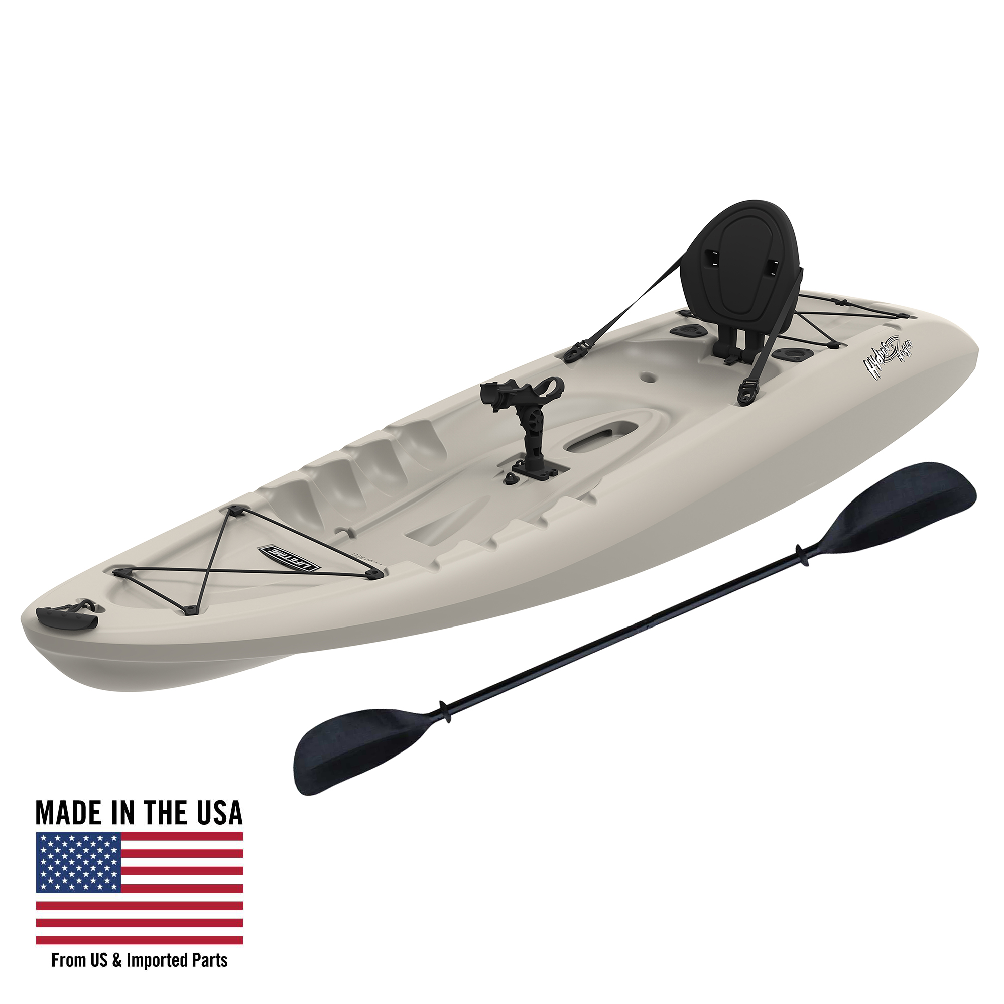 Lifetime Hydro 8 5 Sit On Top Fishing Kayak With Paddle 90610 Walmart Com