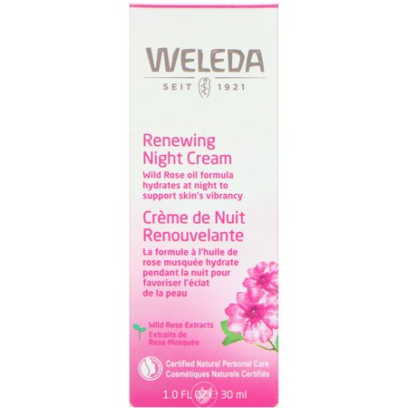Weleda Wild Rose Smoothing Night Cream 1 Ounce, Pack of