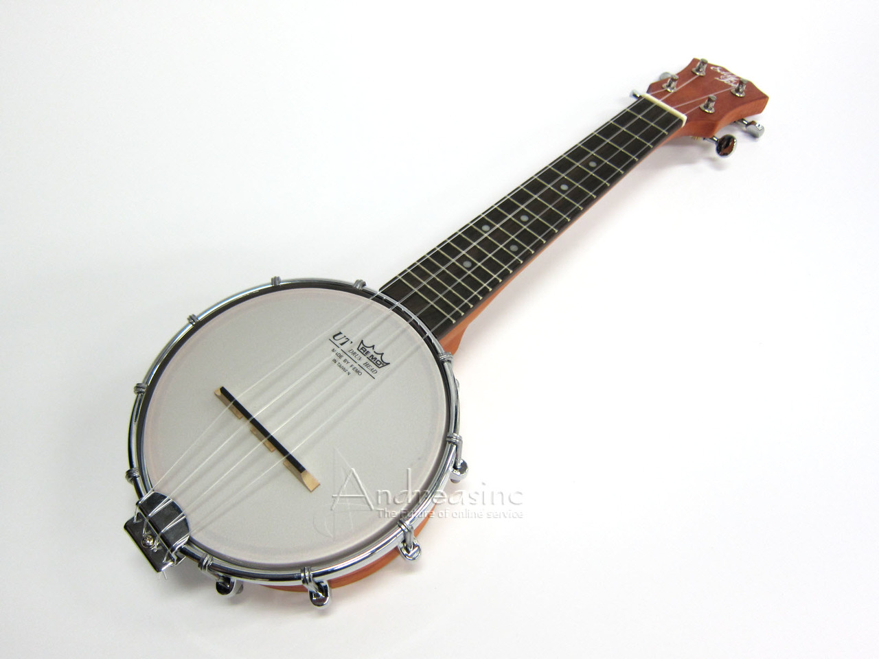 Eddy Finn Banjo Soprano Ukulele Banjo w  Gig Bag by Eddy Finn
