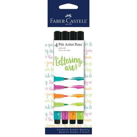 Faber-Castell Pitt Artist Pens Lettering Set, (Faber Castell Connector Pen And Pencil Set)