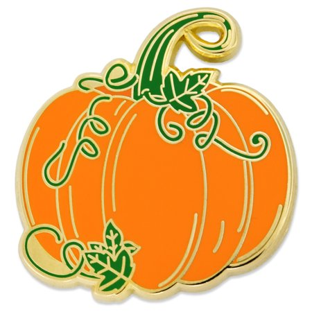PinMart's Pumpkin w/ Vines Halloween Fall Autumn Enamel Lapel - No Thanks Halloween Vine