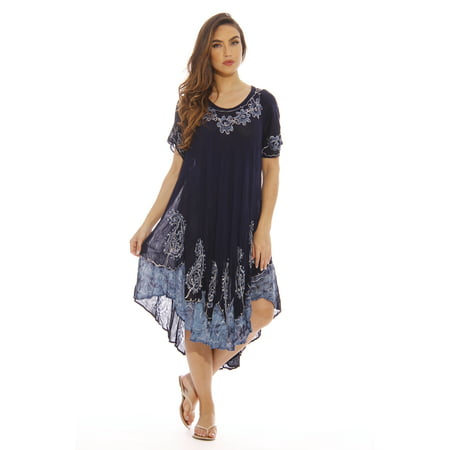4070110058 Just Love - Just Love Summer Dresses Plus Size   Swimsuit Cover Up   Resort  Wear (Navy Cap Sleeve