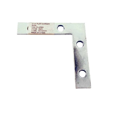 - Flat Corner Iron with Pre-Drilled Holes for Screws or Bolts