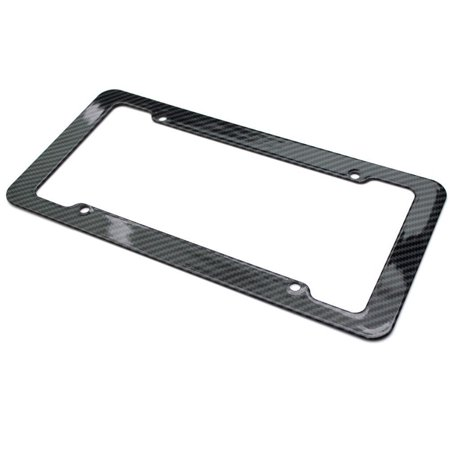 Carbon Fiber Cooling Plate (DZT1968 REAL 100% CARBON FIBER LICENSE PLATE FRAME TAG COVER 3K With Free Caps )