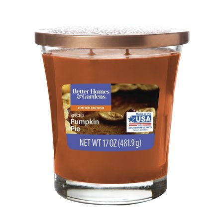Better Homes & Gardens Scented Jar Candle – Spiced Pumpkin Pie, 17 oz. – Single ()