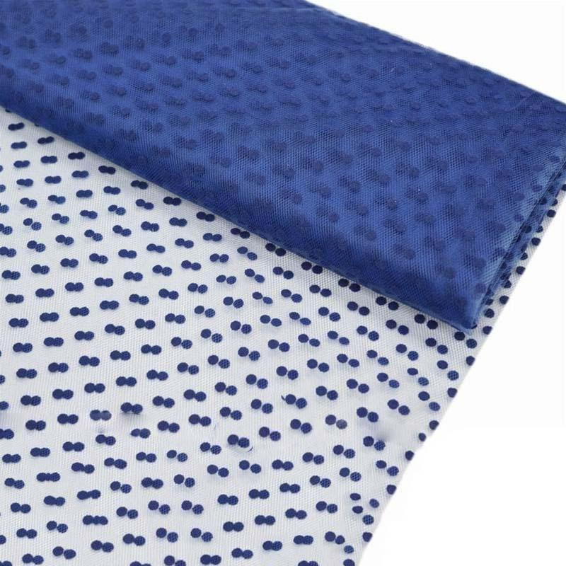 """Dots The Way I Like It Tulle - Royal Blue 60""""x10yards"""