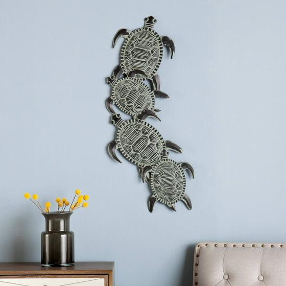 southern enterprises metal turtle wall art. Black Bedroom Furniture Sets. Home Design Ideas